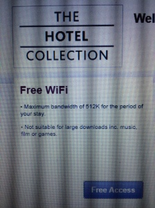 Free but very limited WIFI