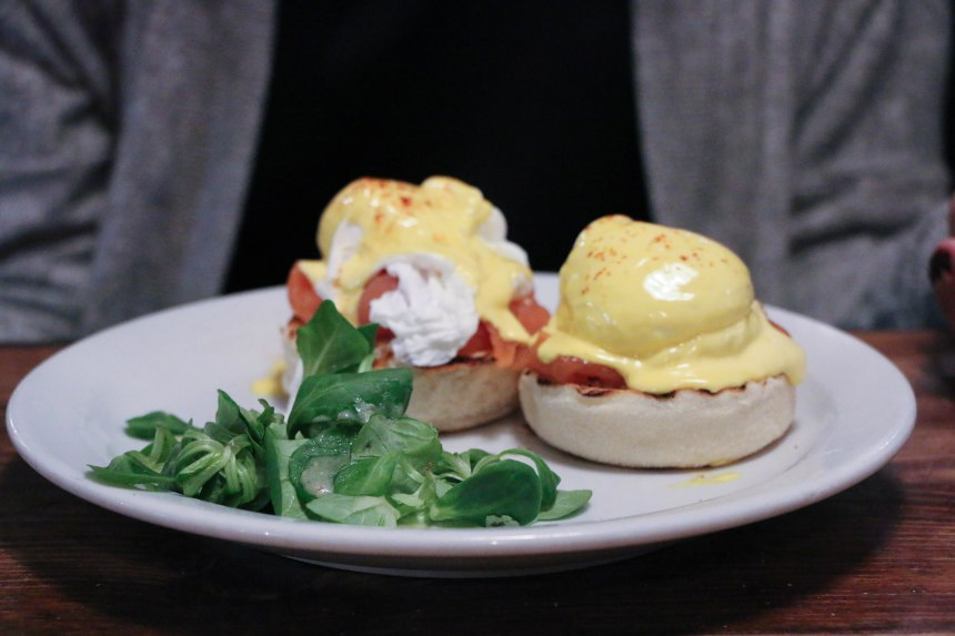 Eggs Benedict at The Breakfast Club