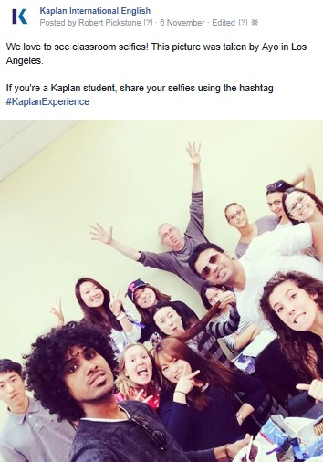 Kaplan International English encourages students to share their #KaplanExperience