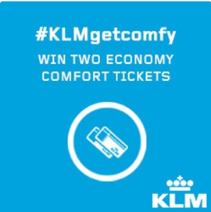 #KLMgetcomfy - Brand name is in the #, but is it neutral?