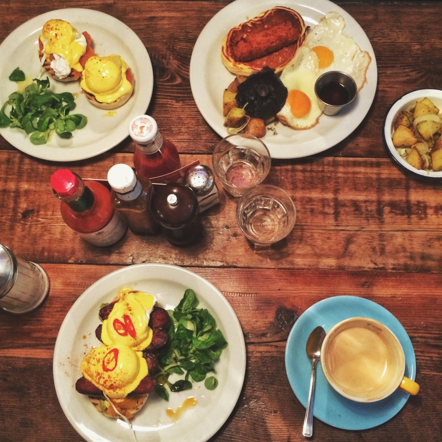 """Our Breakfast at """"the breakfast club london"""