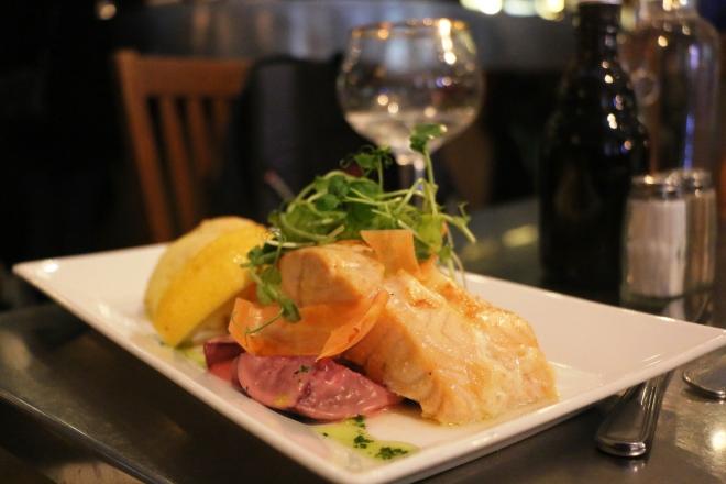 Amazing Norwegian salmon was found in Stockholm.