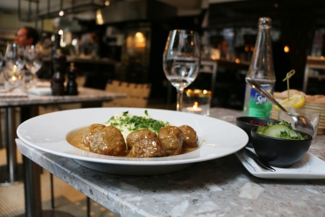 Amazing Swedish meatballs were found at Broms in Stockholm!
