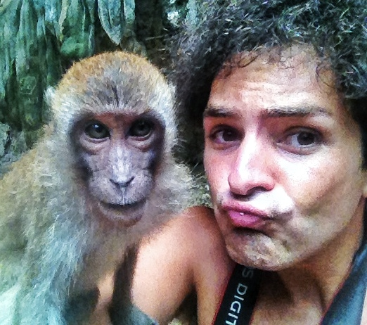 Selfie with a monkey